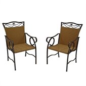 International Caravan Valencia Wicker Resin Patio Chair(Set of 2)
