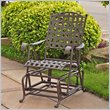 ADD TO YOUR SET: International Caravan Santa Fe Wrought Iron Outdoor Patio Glider