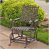 International Caravan Santa Fe Wrought Iron Outdoor Patio Glider