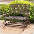 ADD TO YOUR SET: International Caravan Santa Fe Wrought Iron Double Patio Glider