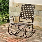 International Caravan Santa Fe Wrought Iron Outdoor Patio Rocker
