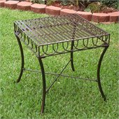 International Caravan Sun Ray Outdoor Patio Side Table