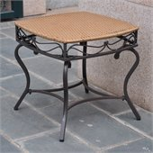 International Caravan Valencia Outdoor Wicker Patio Side Table