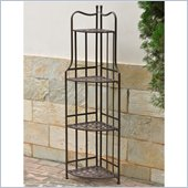 International Caravan Santa Fe Indoor/Outdoor 4-Tier Bakers Rack