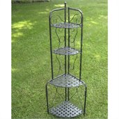 International Caravan Mandalay Outdoor Corner Bakers Rack