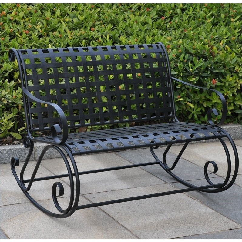 ... Caravan Mandalay Iron 2-Seater Double Patio Rocking Chair