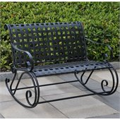 International Caravan Mandalay Outdoor Iron Double Rocker