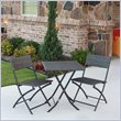 ADD TO YOUR SET: International Caravan Aledo 3 Piece Wicker Resin Patio Bistro Set