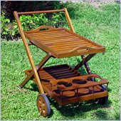International Caravan Acacia Patio Tea Trolley