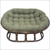 International Caravan Papasan Double Rattan Chair