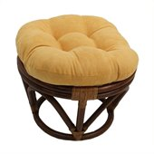 International Caravan Papasan Rattan Footstool Frame