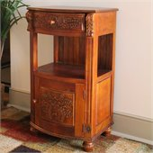 International Caravan One Drawer Telephone Table in Mahogany
