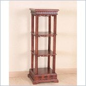 International Caravan Carved Square Stand in Mahogany