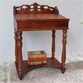 International Caravan Small Carved Writing Desk in Mahogany
