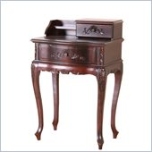 International Caravan Carved Two Drawer Telephone Accent Table in Mahogany