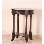 International Caravan One Drawer Oval Table in Mahogany