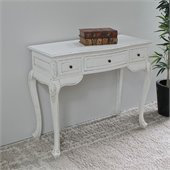 International Caravan Carved Vanity Desk in White