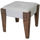 International Caravan Charlotte Sage Indoor Fabric Vanity Stool