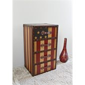 International Caravan Americana Stars and Stripes 4-Drawer Chest