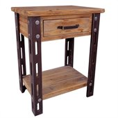 International Caravan  Aledo Antique 1-Drawer Indoor Side Table