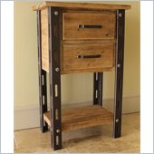 International Caravan  Aledo Antique 2-Drawer Indoor Tall Table