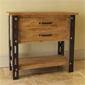International Caravan  Aledo Antique 2-Drawer Indoor Side Table
