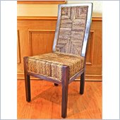 International Caravan Dallas Mahogany Dining Chairs  Set of 2