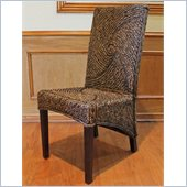 International Caravan Lambada Mahogany Dining Chairs - Set of 2