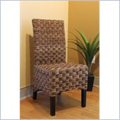 International Caravan  Manilla Set of 2 Abacca Accent Dining Chair