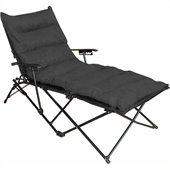 International Caravan Foldable Chaise Lounge in Black
