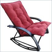 International Caravan Folding Rocking Game Chair in Cardinal Red