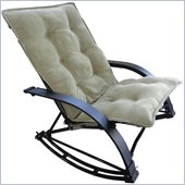 International Caravan Folding Rocking Game Chair in Sage