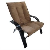 International Caravan Foldable Game Chair in Saddle Brown