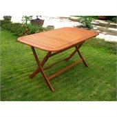 International Caravan Royal Tahiti  59 Folding Table in Balau Stain 
