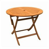 International Caravan Royal Tahiti 36 Folding Table in Balau Stain 
