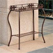 International Caravan Santa Fe Wrought Iron Plant Stand in Bronze