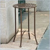 International Caravan Mandalay 15 Wrought Iron Table in Rustic Brown