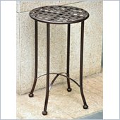 International Caravan Mandalay 15 Wrought Iron Table in Bronze