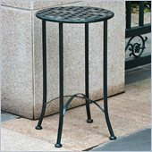 International Caravan Mandalay 15 Wrought Iron Table in Vert Gris 