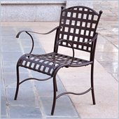 International Caravan Santa Fe Iron Chair in Rustic Brown (Set of 2)