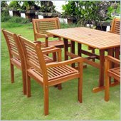 International Caravan Royal Tahiti 7 PCS Dining Set in Balau Stain