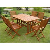 International Caravan Royal Tahiti 7 Piece Dining Set in Balau Stain 