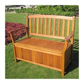 International Caravan Royal Tahiti Storage Bench/Trunk in Balau Stain 