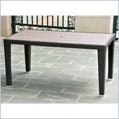 International Caravan Barcelona Aluminum Dining Table in Black Antique