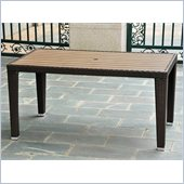 International Caravan Barcelona Aluminum Dining Table in Chocolate