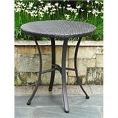 International Caravan Barcelona 28 Bistro Table in Black Antique