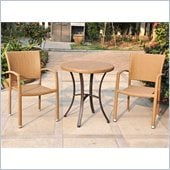 International Caravan Barcelona 3-Piece Bistro Set in Honey