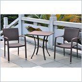 International Caravan Barcelona 3-Piece Bistro Set in Black Antique 