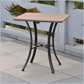 International Caravan Barcelona 28 Bistro Table in Antique Brown