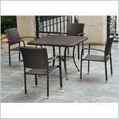 International Caravan Barcelona 5-Piece Patio Set in Chocolate 